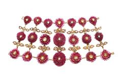 Indian bracelet, late 17th cent to mid 18th century.  From Doris Duke's Shangri La exhibit at the Museum of Art & Deisgn.