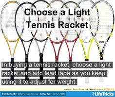 Choose a Light Tennis Racket