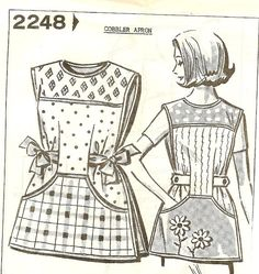 Vintage 1950s Cobbler Apron Pattern Mail Order by TheSewingGin