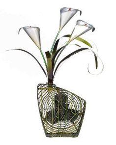 Amazon.com: Deco Breeze Decorative Figurine Table Fan, Calla Lilies, 24-Inch Tall by 15-Inch Wide: Home & Kitchen