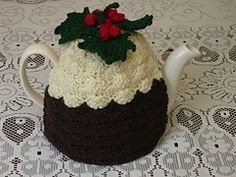Ravelry: Crochet Christmas Pudding Tea Cosy pattern by AndreaLesley Crochet