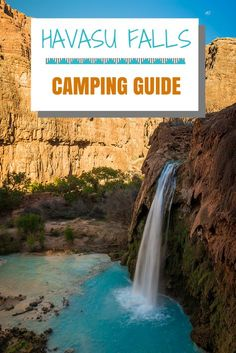 Havasu Falls Camping Guide Everything you need to know A couple of weekends ago I visited the Havasupai Indian Reservation MIND BLOWN I knew it was going to be cool but I. Backpacking Trails, Camping Guide, Camping And Hiking, Camping Hacks, Camping Essentials, Hiking Trips, Camping Cabins, Camping Checklist, Road Trips