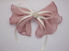 Hair Bows, pink chiffon bow hair bow, hair  clip, Bow For Hair, big bow,bow for women
