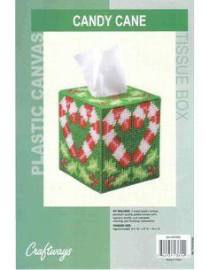 CANDY CANE TISSUE BOX 1
