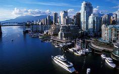 #Vancouver This is False Creek between the Granville and Burrard Bridges