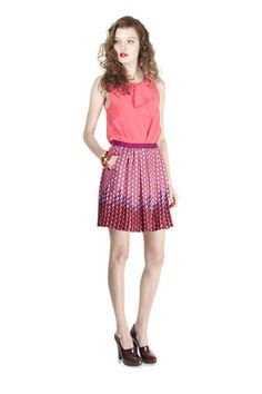 Marc by Marc Jacobs Alex CDC Ruffle Top and Paradox Print Pleated Mini Skirt