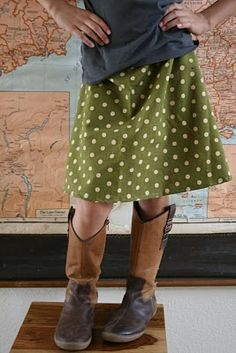 quickie a-line skirt pattern from sugar city journal