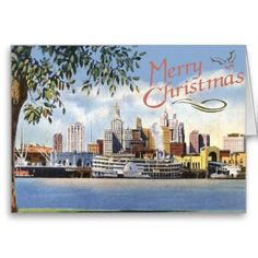 New Orleans Christmas Cards old and new from local artist sold on web, add text to card.