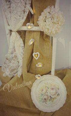 Χειροποίητος Ιταλικός Δίσκος Στρογγυλός με vintage λουλούδια! Our Wedding, Burlap, Reusable Tote Bags, Vintage, Hessian Fabric, Canvas