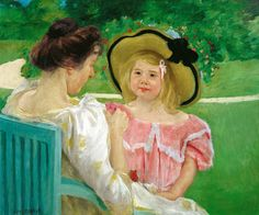 A reproduction of In the Garden by Mary Cassatt will be displayed on the Wyandotte Museums campus for the Detroit Institute of the Art Inside/Out Project.  In Wyandotte from April to June, 2012.