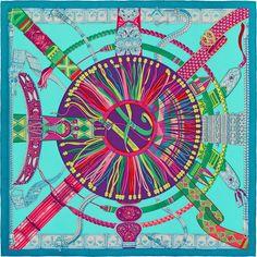 140 x 140 cm shawl Hermès | Ceintures et Liens by Laurence Bourthoumieux2014…