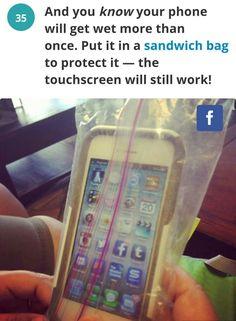 Phone waterproofing