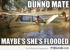 Dunno mate maybe she's flooded at PMSLweb.com