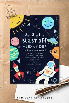 20 Pack Outer Space Design Paper Party Napkins Buffet Birthday BN Astronaut Kids