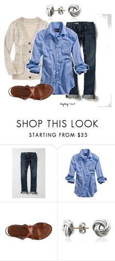 """""""relaxed"""" by taytay-268 ❤ liked on Polyvore featuring Gap, AG Adriano Goldschmied, American Eagle Outfitters, Kelly & Katie and Blue Nile"""