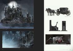 Bloodborne Concept Art - Forsaken Cainhurst Castle Concept Art