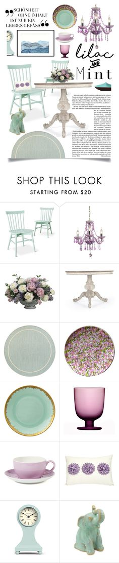 """""""Color Challenge: Lilac & Mint"""" by ittie-kittie on Polyvore featuring interior, interiors, interior design, home, home decor, interior decorating, Threshold, Sterling Industries, Allstate Floral and Pier 1 Imports"""