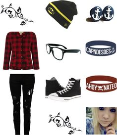 """""""Emo 3 CapnDesDes and AhoyNateO =3"""" by blacksunproductions ❤ liked on Polyvore"""