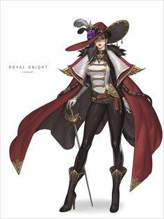 Art by Yoonju Cho Female Character Design, Character Design Inspiration, Character Concept, Character Art, Fantasy Warrior, Fantasy Rpg, Anime Fantasy, Dnd Characters, Fantasy Characters