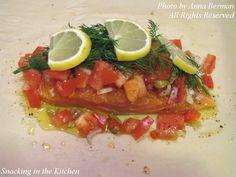 Salmon in a bag... Yummy