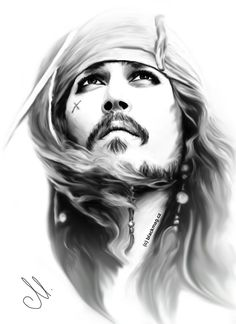 Love Johnny Depp and his role of captian JS.cz - original picture: promo photo for POTC Jack Sparrow painting Jack Sparrow Drawing, Jack Sparrow Tattoos, Jack Sparrow Quotes, Sparrow Art, Jack Sparrow Wallpaper, Pirate Art, Johny Depp, Charcoal Art, Joker Art