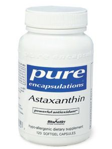 """Scientists and leading-edge health practitioners and raw foods experts have been astounded by recent discoveries in the properties of astaxanthin, an antioxidant found in marine algae, wild salmon, and krill oil. This amazing superfood antioxidant is 6000 times more powerful than vitamin C and 800 times better than CoQ10 at quenching """"singlet oxygen"""" species which wreak havoc inside the body."""