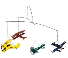 Hanging Mobile Gallery - Flight 1920 Airplane Mobile, $59.00 (http://www.hangingmobilegallery.com/flight-1920-airplane-mobile/)