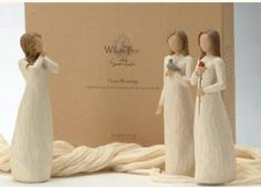 """Willow Tree figurines """"May the blessings of peace, love and joy be a presence in your life"""""""
