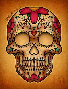 Sugar Skulls Outline Hd | Tattoo Design Pictures