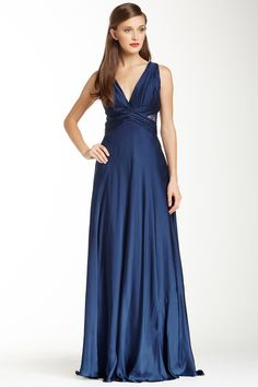 Theia Lace Inset Pleated Silk Dress by Theia on @nordstrom_rack