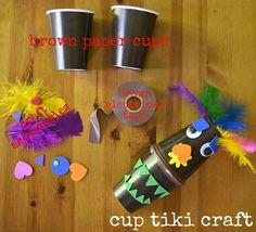 Aloha To Summer tiki cup craft