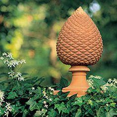 Terracotta Pinecone Finial - Seibert & RIce