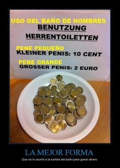 La mejor forma que se le ocurrió a la señora del baño para ganar dinero!  #Genial!!