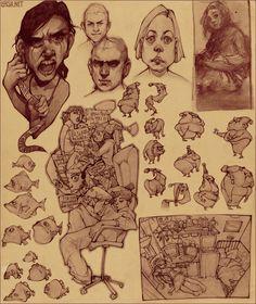 sketch page 2: random by `loish on deviantART