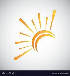 Sun design abstract icon summer concept vector image on VectorStock Logo Design Inspiration, Icon Design, Sunshine Logo, Corporate Design, Graphic Design Typography, Graphic Design Illustration, Sun Drawing, Sun Painting, Sun Logo