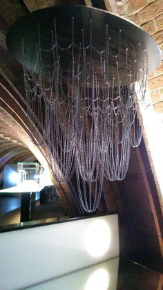 Maqueta colgante de la Colonia Güell, Gaudí