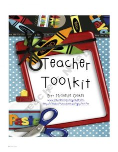 "Teacher Toolkit includes class lists, checklists, calendars, student gift printables for beginning and end of year.  (includes: O""fish""ially a x grader) Very Cute."