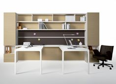 Multiple office workstation WORKWALL MORE by ESTEL GROUP design Alberto Stella