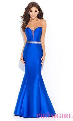 Strapless Madison James Prom Dress