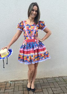 Vestido de Festa Junina  /    Dress ithan June Festival -