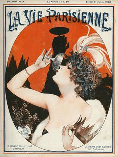 La Vie Parisienne  1922 1920s France Drawing by The Advertising Archives