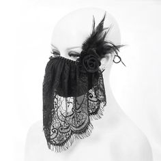Dumbo Ears, Face Veil, Fashion Mask, Beaded Trim, High End Fashion, Ear Loop, Filters, To My Daughter, Lace