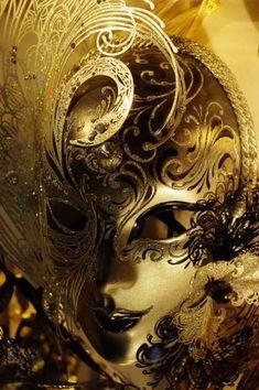Glittery Venetian Mask