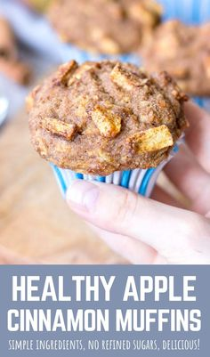 These healthy Apple Cinnamon Muffins are moist and perfectly tender, filled with fresh apples and beautiful Fall spices.   They are made with simple but WHOLESOME ingredients, without refined sugars. Perfect afternoon treat that goes so well with cup of coffee or tea. --------- #apple #applemuffins #cinnamon #muffins #muffinrecipe #recipe #healthy #healthymuffin #healthybreakfast #breakfast #snack #healthysnack #luncbox Best Breakfast Recipes, Brunch Recipes, Breakfast Ideas, Healthy Apple Cinnamon Muffins, Healthy Muffins, Apple Recipes, Fall Recipes, Healthy Recipes, Cupcake Recipes