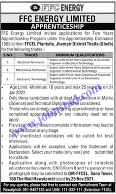 Jobs Description FFC Energy Apprenticeship 2021 Advertisement Application Form has been announced through the advertisement and applications from the suitable persons are invited on the prescribed application form. In these FFC Energy Limited Jobs 2021 the eligible Male/Female candidates from across the country can apply through the procedure defined by the organization and can get ... Read more The post FFC Energy Apprenticeship 2021 Advertisement Application Form appeared first on JobUstad.