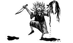 frau perchta | Frau Perchta was a demonic witch who stalked Medievel Central Europe ...