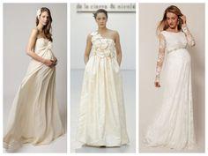 15 vestidos perfectos sólo para novias embarazadas   Sweet Bodas