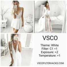 VSCO Filters for White Instagram Feed - VSCO Filter Hacks