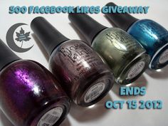 ThePolishHoochie: 500 Facebook Likes Giveaway!  http://thepolishhoochie.blogspot.com/2012/10/500-facebook-likes-giveaway.html