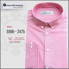 Dress up with LSC custom dress shirts will not only enhance your personality but also gives you inner satisfaction. Our designer recently design pink based white stripes shirt specially with most important factor called care.  For ordering inbox us your contact details or Reach us @ (042) 35844470  #pinkshirt #customshirts #bespokeclothing #mensfashion #customclothing#dressshirts